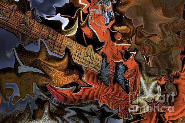 What Happened Last Night Digital Guitar Art By Steven Langston Print by Steven Lebron Langston