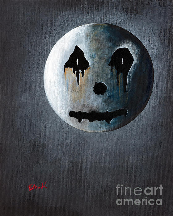 What It's Like Without You - Gothic By Shawna Erback Print by Shawna Erback