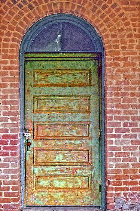 What's Behind The Green Door Print by Larry Bishop