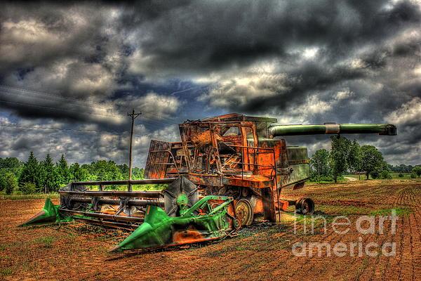 Wheat Field Fire 2 Print by Reid Callaway