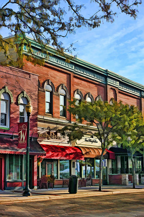 Wheaton Front Street Stores Print by Christopher Arndt