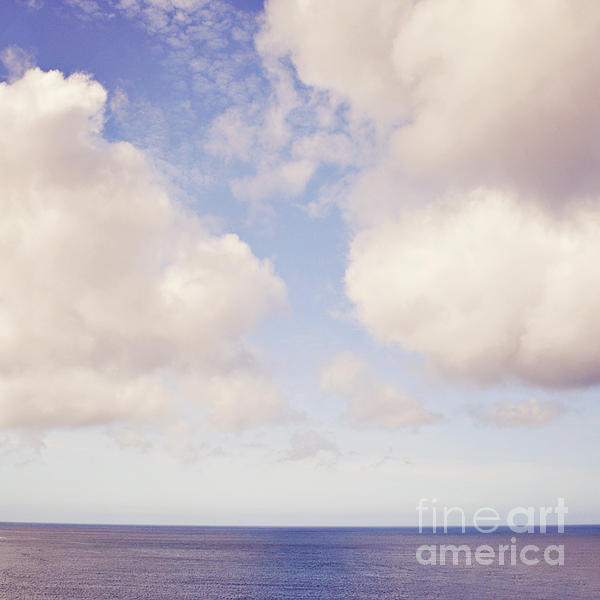 When Clouds Meet The Sea Print by Lyn Randle