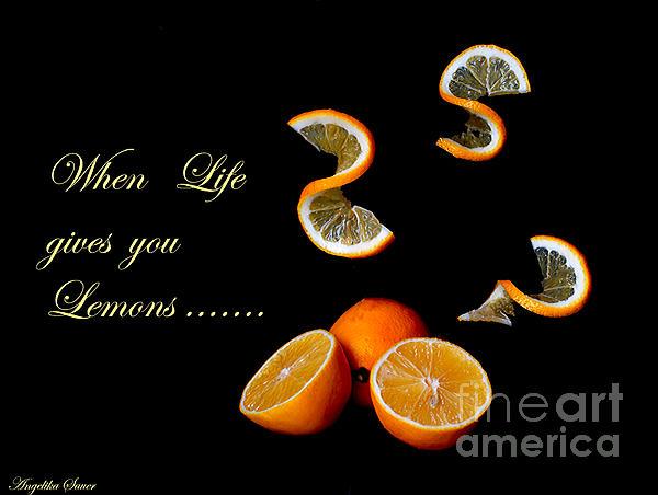 When Life Gives You Lemons II Print by Angelika Sauer