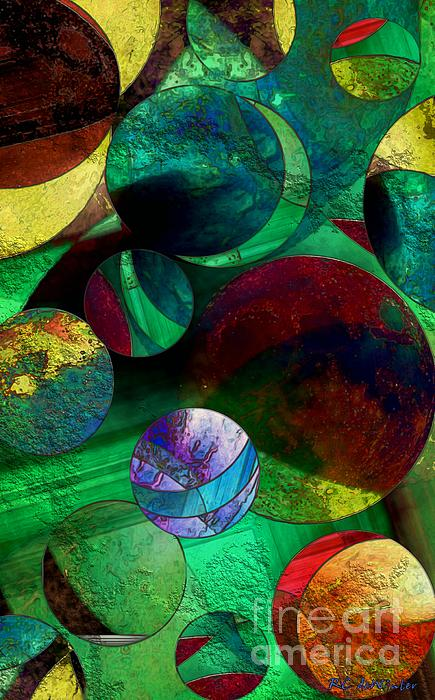When Worlds Collide Print by RC DeWinter
