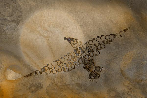 Where Eagles Soar-mechanical Eagle Print by Fran Riley