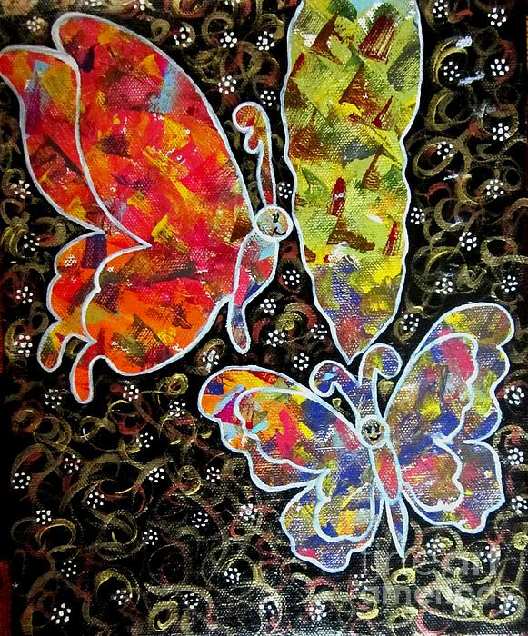 Priyanka Rastogi - Whimsical Painting- Colorful Butterflies