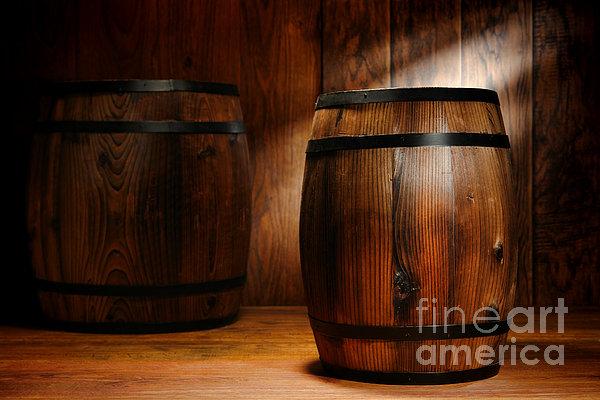 Whisky Barrel Print by Olivier Le Queinec