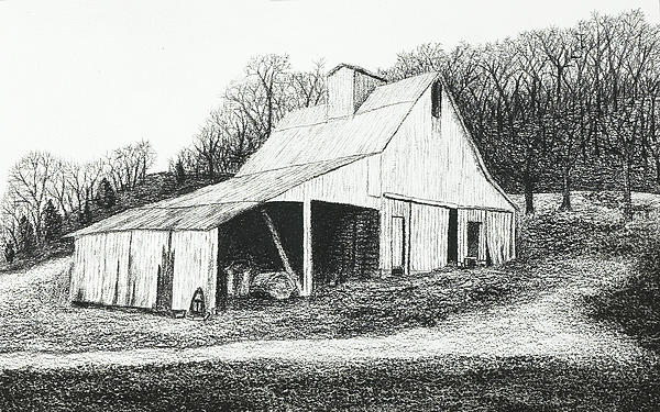 White Barn On Bluff Road Print by Garry McMichael