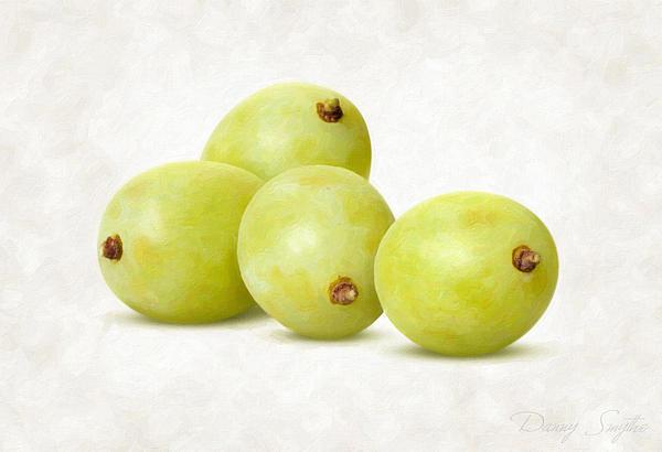 White Grapes Print by Danny Smythe