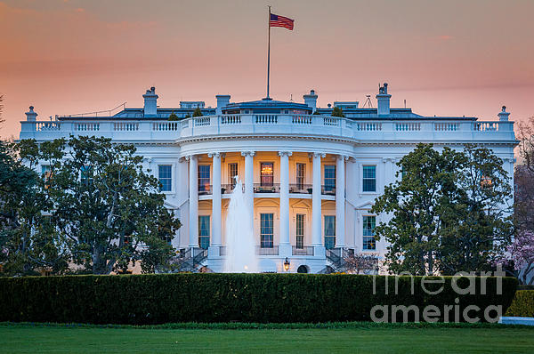 White House Print by Inge Johnsson