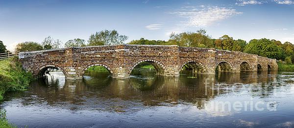 White Mill Bridge In Dorset Print by Helen Hotson