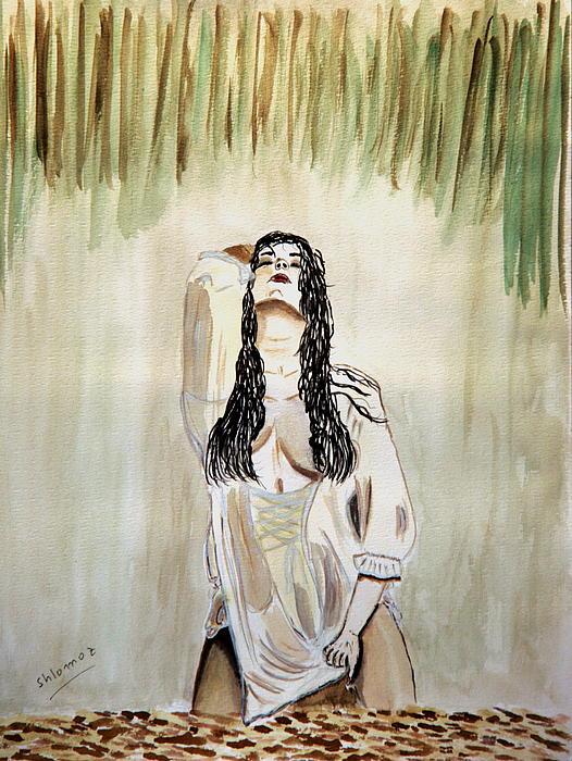White Passion Print by Shlomo Zangilevitch