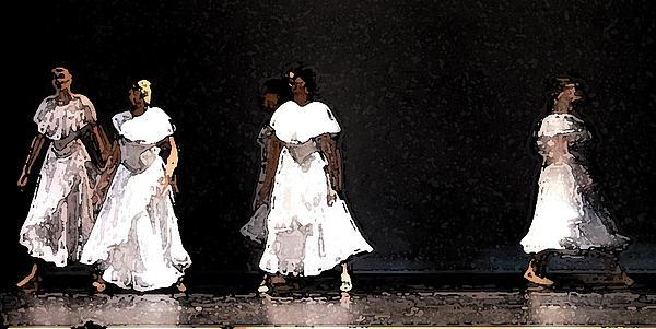 White Rain Print by George Gadson