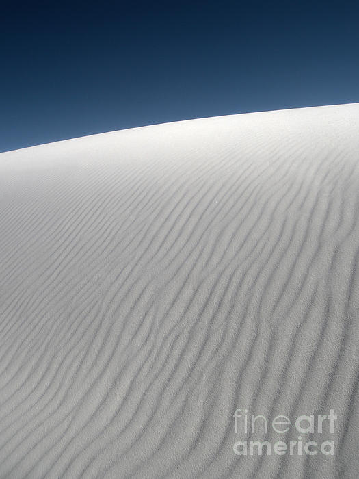 White Sands New Mexico Dune Abstraction Print by Gregory Dyer