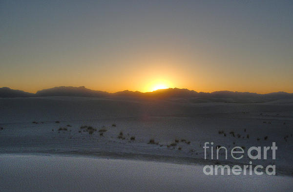 White Sands New Mexico Sunset Print by Gregory Dyer