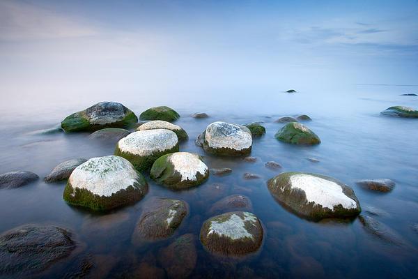 White Stones In The Water Print by Anna Grigorjeva
