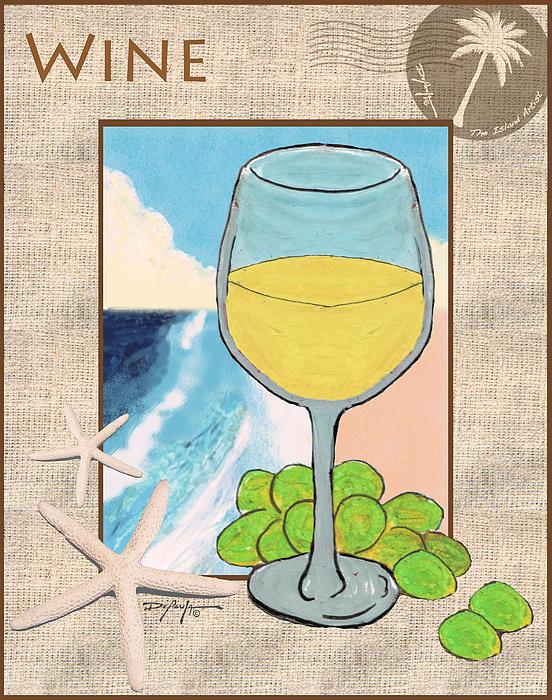 White Wine Beachside Print by William Depaula