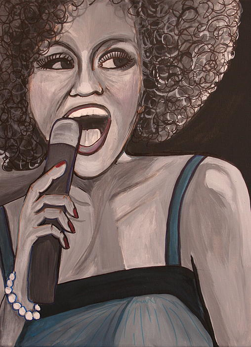Whitney Houston Print by Kate Fortin