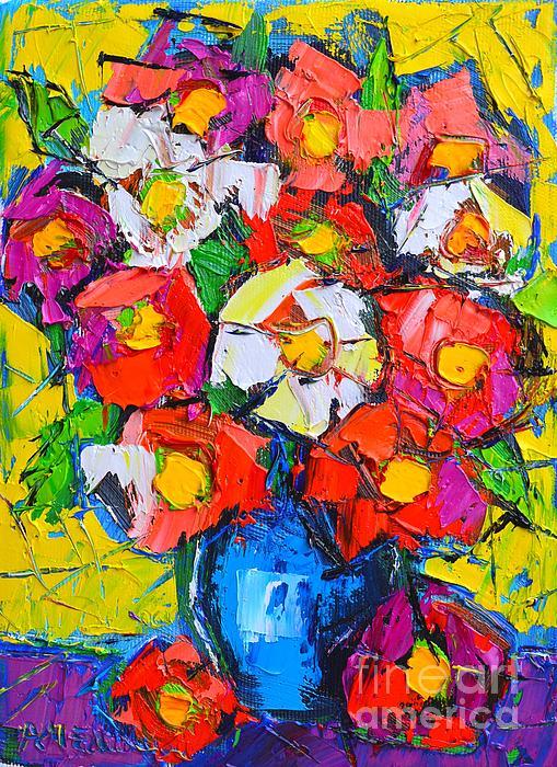 Wild Colorful Flowers Print by Ana Maria Edulescu