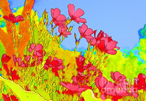 Wild Flowers In Bloom Print by Julie Lueders