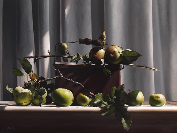 Wild Green Apples Print by Larry Preston
