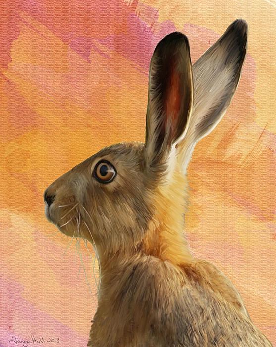 Wild Hare Print by Tanya Hall