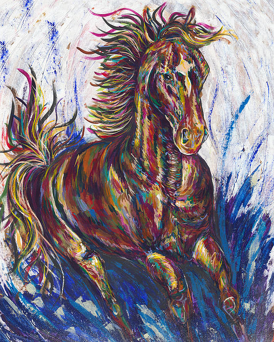 Wild Mustang Print by Lovejoy Creations