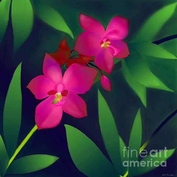 Wild Orchids Print by Latha Gokuldas Panicker