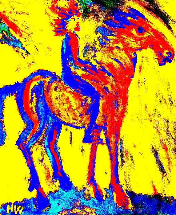 Wild Rider Print by Hilde Widerberg