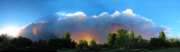 Wildfire Coming Print by Ric Soulen