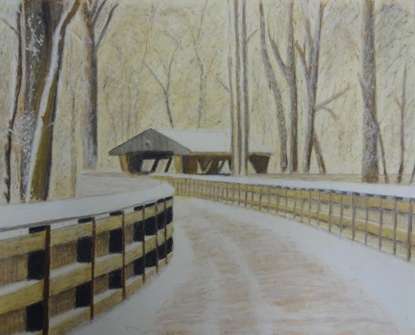 Wildwood Bridge Print by Samuel McMullen