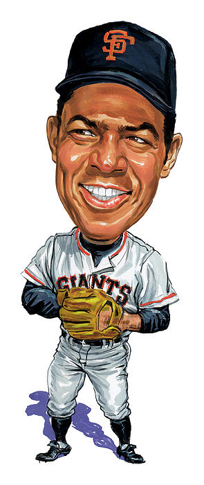 Willie Mays Print by Art