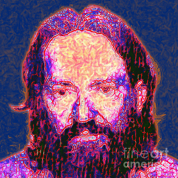 Willie Nelson Painterly 20130328 Square Print by Wingsdomain Art and Photography