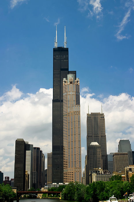 Willis Tower Aka Sears Tower Print by Adam Romanowicz