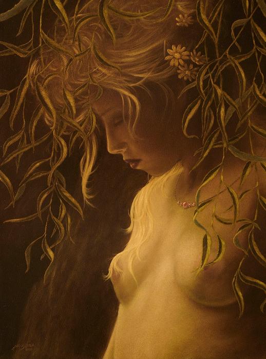 Willow Girl Print by John Silver