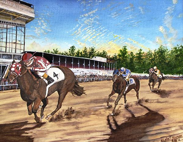 Win Place Show Print by Kevin F Heuman