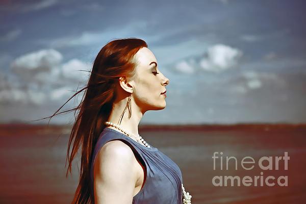 Wind In Her Hair Print by Craig B