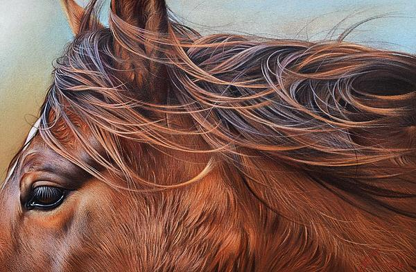 Wind In The Mane Print by Elena Kolotusha