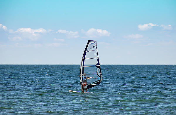 Wind Surfer Print by Aimee L Maher Photography and Art