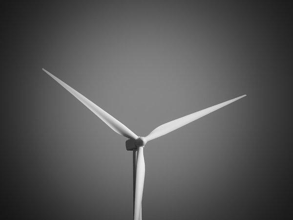 Wind Turbine Print by Wim Lanclus