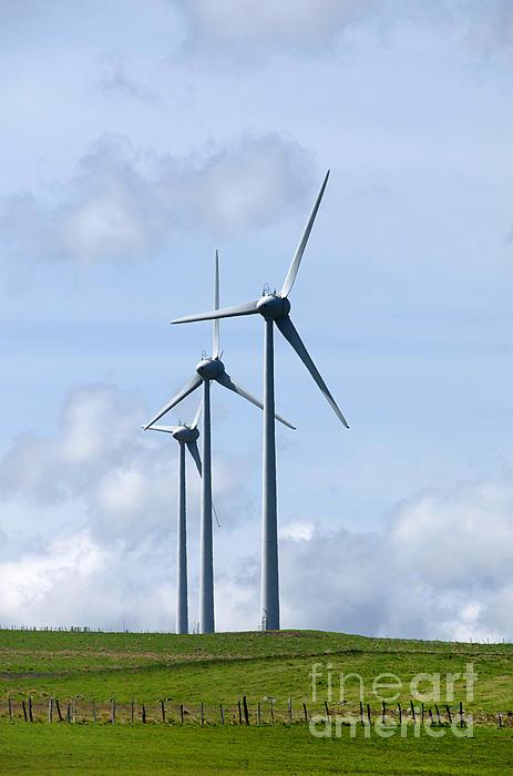 Wind Turbines Print by Bernard Jaubert