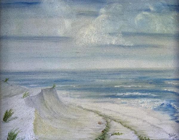 Windblown Print by Judy Hall-Folde