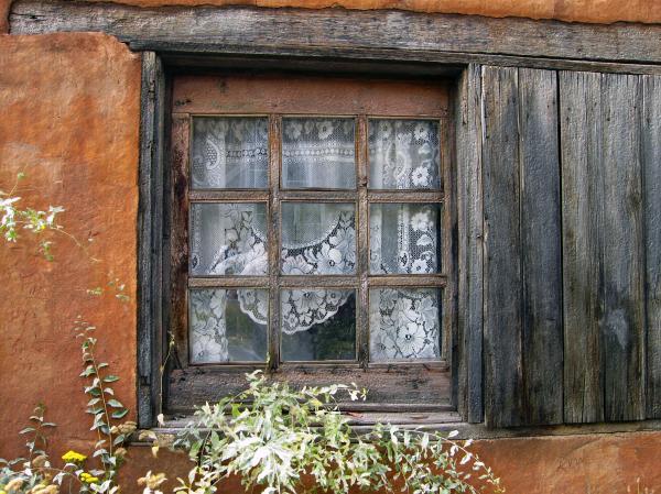 Window At Old Santa Fe Print by Kurt Van Wagner