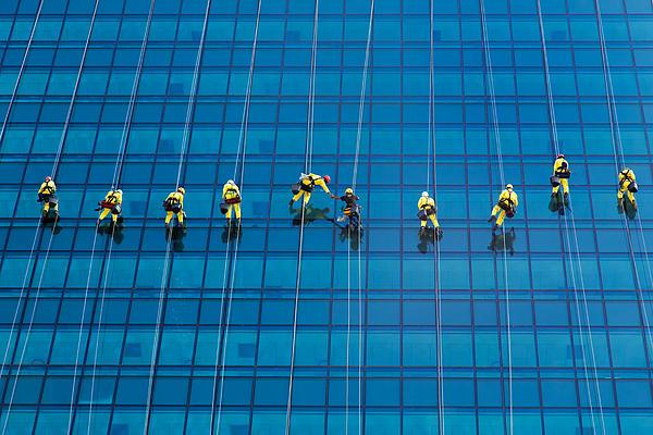 Window Cleaners Print by David Van der Want