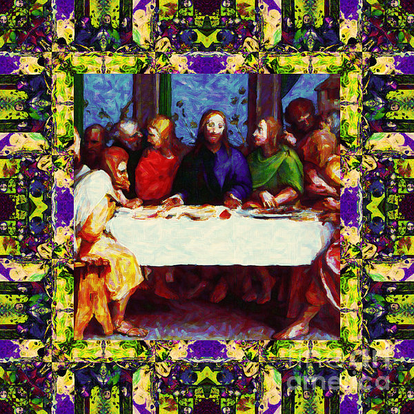 Window Into The Last Supper 20130130m138 Print by Wingsdomain Art and Photography