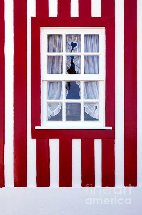 Window On Stripes Print by Carlos Caetano