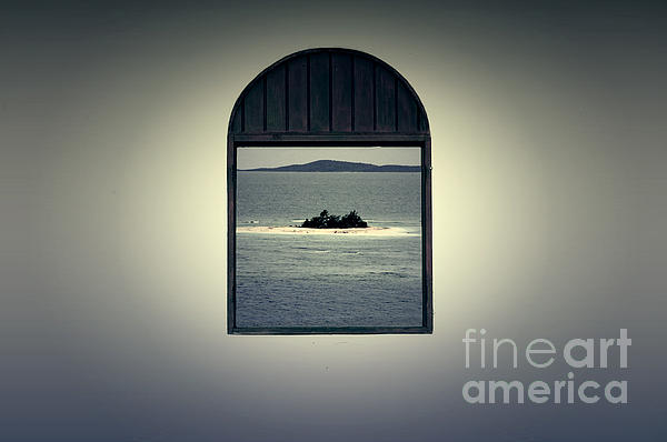 Window View Of Desert Island Puerto Rico Prints Lomography Print by Shawn O'Brien