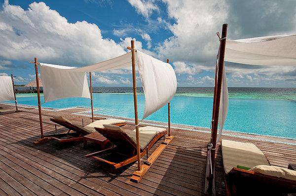 Windy Day At Maldives Print by Jenny Rainbow