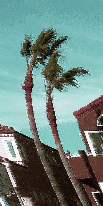 Windy Day By The Ocean  Print by Ben and Raisa Gertsberg