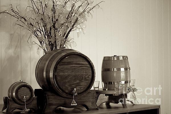 Wine Barrels Print by Alanna Dumonceaux
